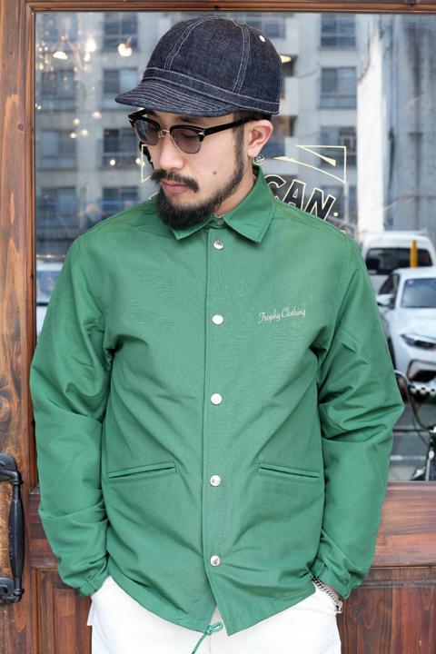 TROPHY CLOTHING/トロフィークロージング   「Box Logo Warm Up Jacket」  60/40クロスコーチジャケット