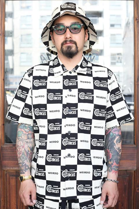 WEIRDO/ウィアード   「RINGING - S/S SHIRTS」   チェッカーS/Sシャツ