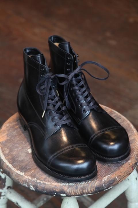 BLACK SIGN/ブラックサイン  「Army Last Mid Cut Dress」  ミッドカットキャップトゥシューズ