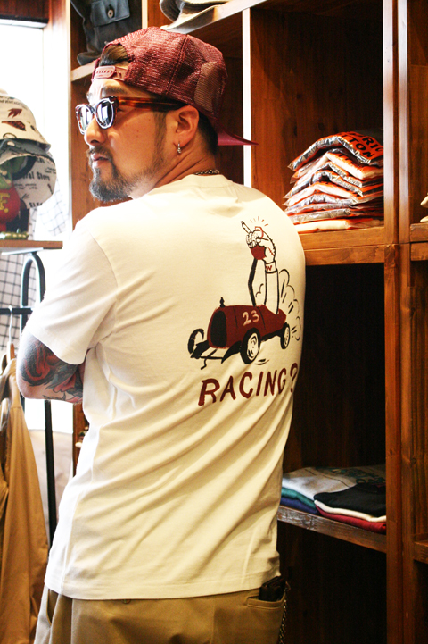 WEIRDO/ウィアード  「 RACING? 」  プリントTシャツ