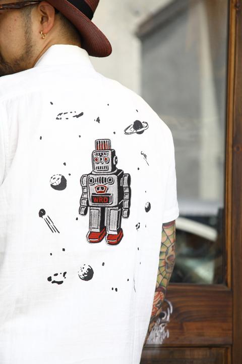WEIRDO/ウィアード   「S ROBOT - S/S SHIRTS」  ダブルガーゼS/Sシャツ