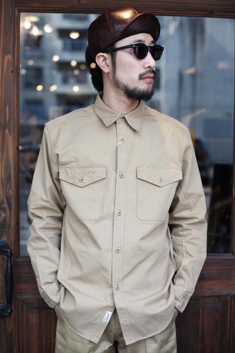 TROPHY CLOTHING/トロフィークロージング   「Safari Shirts」  オールドコットンシャツ