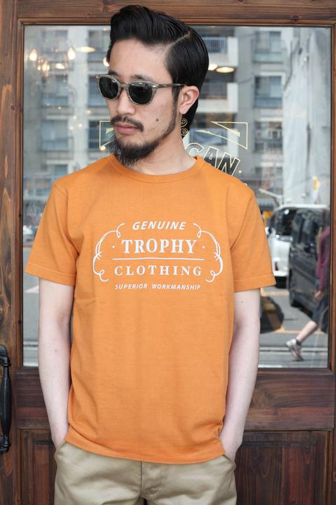 TROPHY CLOTHING/トロフィークロージング  「Ranch Logo OD Crew Tee」  プリントTシャツ