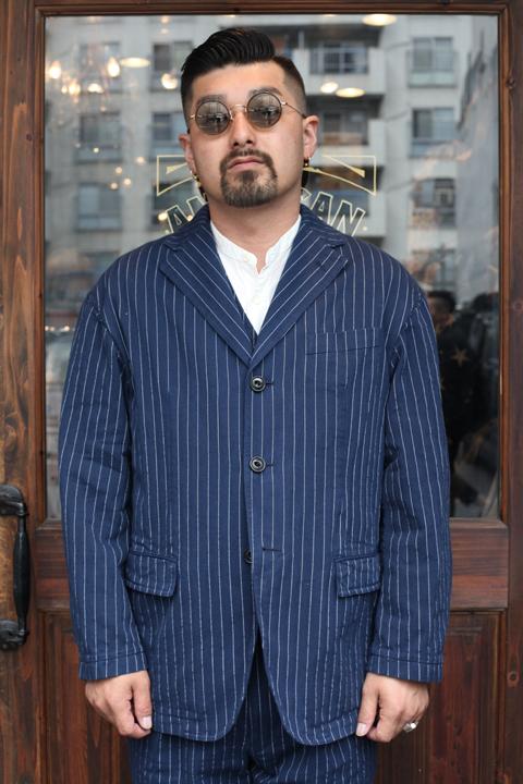 """TENDERLOIN × The Stylist Japan """"Stripe Tailored Jacket"""" ストライプテーラードジャケット"""