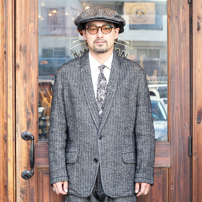 The Stylist Japan/ザスタイリストジャパン 「W/L HERRINGBONE SHAWL COLLAR JK」  ヘリンボーンショールカラージャケット
