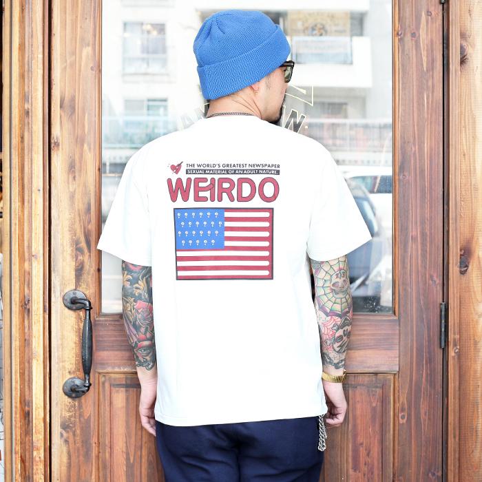 WEIRDO/ウィアード 「 PORN WEIRDO AMERICA -  S/S T-SHIRTS 」 クルーネック S/S TEE