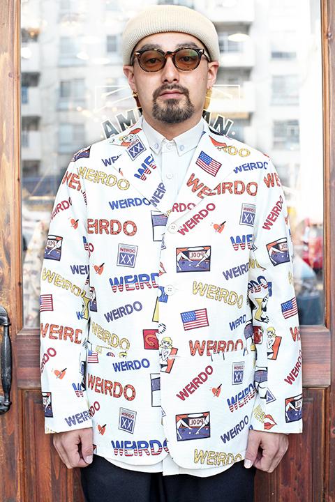 WEIRDO/ウィアード 「 PORN WEIRDO - JACKET 」  総柄ジャケット
