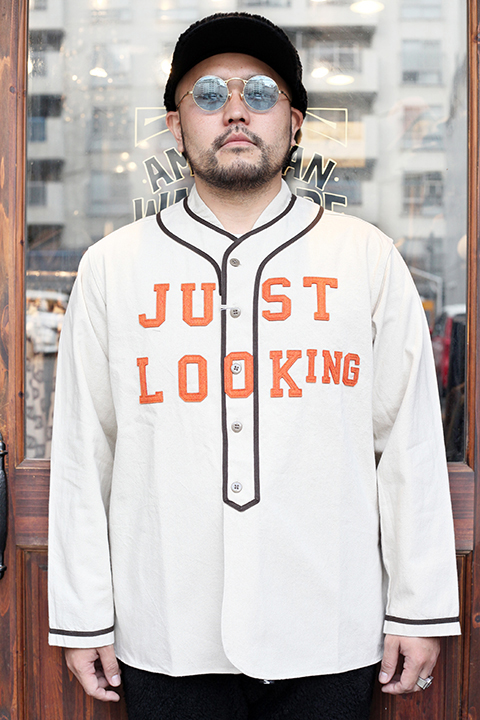 WEIRDO/ウィアード 「 JUST LOOKING - L/S BASE BALL SHIRTS 」  L/S ベースボールシャツ