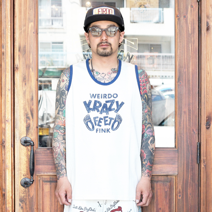 WEIRDO/ウィアード 「 KRAZY FEET - TANK TOP 」 プリントタンクトップ
