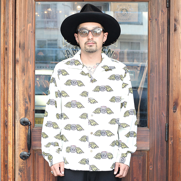 WEIRDO/ウィアード 「ZANY EYE - L/S SHIRTS」 プリント総柄ネルL/Sシャツ
