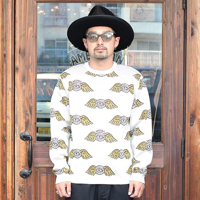WEIRDO/ウィアード 「ZANY EYE - CREW NECK SWEATER」 クルーネックセーター