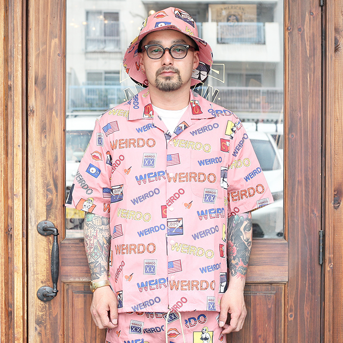 WEIRDO/ウィアード 「 PORN WEIRDO - S/S COACHES SHIRTS 」  総柄S/Sシャツ