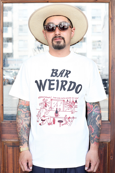 WEIRDO/ウィアード  「4EYES BAR - S/S T-SHIRTS」  クルーネックティーシャツ