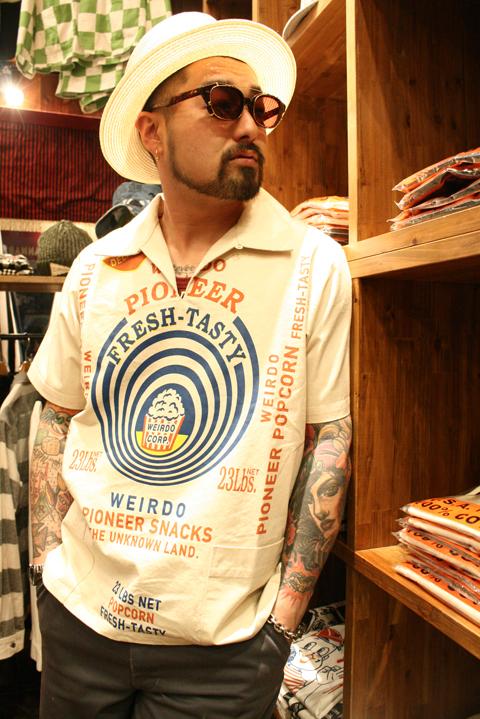 WEIRDO/ウィアード   「POPCORN - S/S PULLOVER SHIRTS」  プルオーバーS/Sシャツ