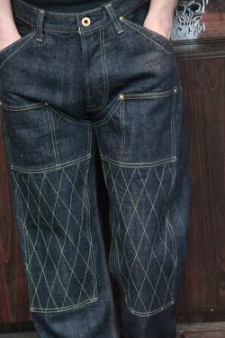TROPHY CLOTHING/トロフィークロージング   「1606SW W KNEE STANDARD DIRT DENIM」   ダブルニースタンダードダートデニム