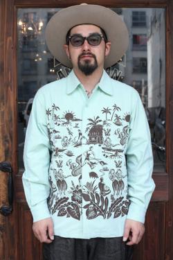 NORTH NO NAME/ノースノーネーム  「HORIZONTAL HAWAIIAN NEL SHIRT」  ハワイアンネルシャツ