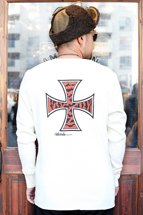 WEIRDO/ウィアード   「TIGER CROSS -  L/S T-SHIRTS」  ヘンリー L/S TEE