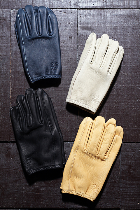 Lamp gloves/ランプグローブス  「Deer Utility glove shorty」  ショートレザ-グローブ