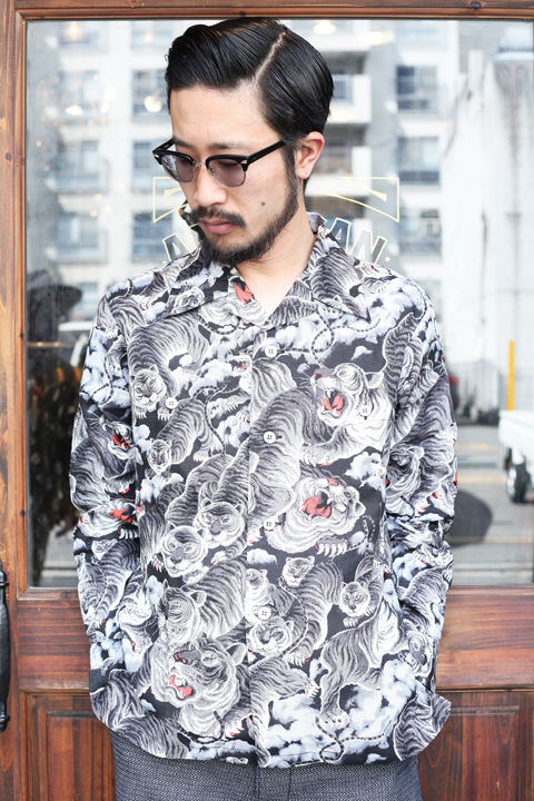 BLACK SIGN/ブラックサイン 「1950s L/S Hundred Tiger Sport Shirt」  スポーツシャツ