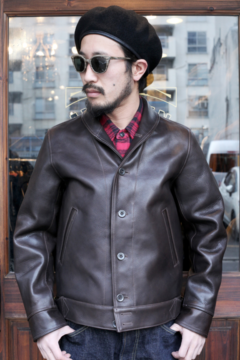 TROPHY CLOTHING/トロフィークロージング  「A-1 SteerHide Jacket」  A-1レザージャケット
