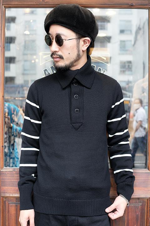 BLACK SIGN/ブラックサイン  「Worsted Byron Collar Jersey」 バイロンカラージャージー
