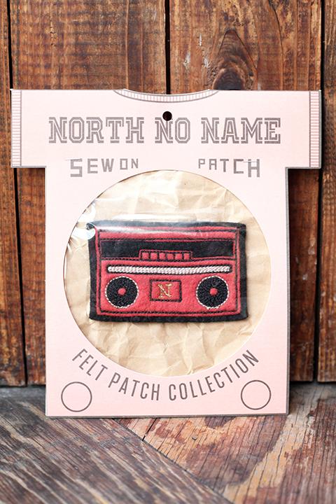 NORTH NO NAME/ノースノーネーム  「 NNN MADE FELT- PATCH 」   ハンドメイドフェルトワッペンサイズS