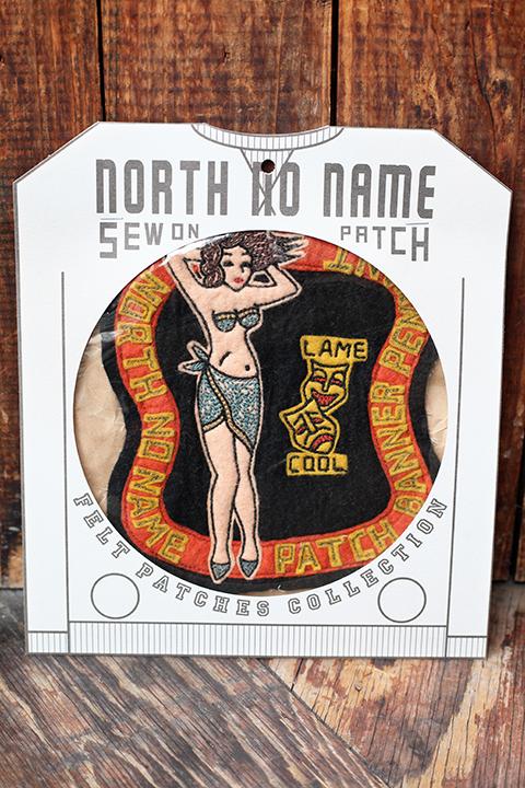 NORTH NO NAME/ノースノーネーム 「 NNN FELT- PATCH  」  ハンドメイドフェルトワッペンサイズXXL