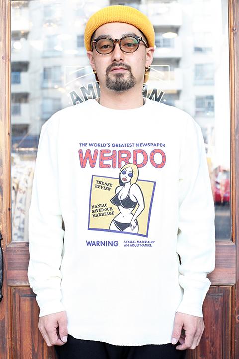 WEIRDO/ウィアード 「 PORN WEIRDO - L/S T-SHIRTS 」 クルーネック L/S TEE