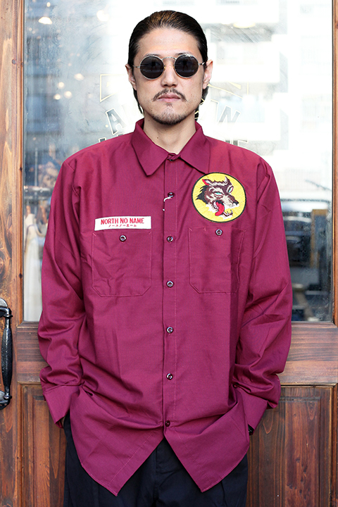 NORTH NO NAME/ノースノーネーム 「 WOLVES WORK SHIRT 」 ワークシャツ