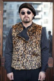 BLACK SIGN/ブラックサイン  「Leopard Pattern Swindler Vest」  レオパードスウィンドラーベスト