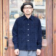 BLACK SIGN/ブラックサイン 「Ajidari Pattern Print Corduroy Gangster Shirt」 アジダリパターンコーデュロイシャツ