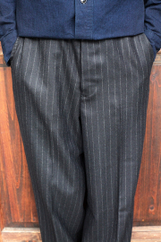 BLACK SIGN/ブラックサイン   「Jail Stripe Dress Trousers」  ウールトラウザーズ
