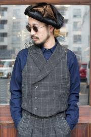 BLACK SIGN/ブラックサイン  「1930s Boston Check Max Vest」 ボストンチェックマックスベスト
