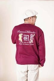 "RUM ART WORKS × AMERICAN WANNABE 「 ""Tiger & Dragon"" 8oz CREW SWEAT 」  クルースウェット"