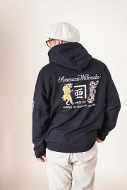 "RUM ART WORKS × AMERICAN WANNABE 「 ""Tiger & Dragon"" 8oz SWEAT PARKA 」  スウェットパーカー"