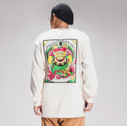 """RAT HOLE STUDIO × AMERICAN WANNABE Supported by PSYCHO WHEELS  「 """"Fu-Manchu """" L/S TEE 」 プリント L/S Tシャツ"""
