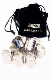 """GLAD HAND/グラッドハンド   「CIGAR TAG - RING """" SILVER """" 」   真鍮製ドッグタグリング"""