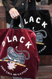 GANGSTERVILLE/ギャングスタービル    「BLACKSVILLE - TOTE BAG」   トートバッグ
