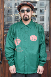 "NORTH NO NAME/ノースノーネーム  「""GET THE MESSAGE?"" COACH JACKET」  コーチジャケット"