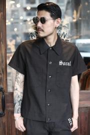 GANGSTERVILLE/ギャングスタービル   「SOCAL - S/S SLICK SHIRTS」  ネップシャンブレーシャツ
