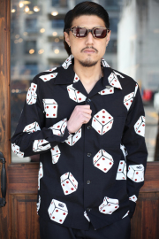 GANGSTERVILLE/ギャングスタービル   「TUMBLING DICE - L/S SHIRTS」 総柄 L/Sシャツ
