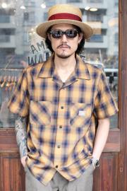 GANGSTERVILLE/ギャングスタービル   「JACK - S/S CHECK SHIRTS」 コットンレーヨンチェックシャツ