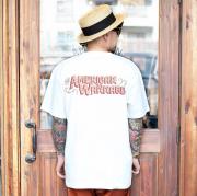AMERICAN WANNABE/アメリカンワナビー  「 10th Signboard Logo S/S TEE 」 10周年記念ロゴ S/S Tシャツ