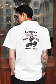 GANGSTERVILLE/ギャングスタービル   「BLONDES - S/S SHIRTS」 コットンS/Sシャツ