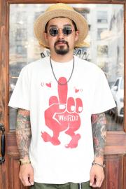 WEIRDO/ウィアード  「FUCK U - S/S T-SHIRTS」  クルーネックティーシャツ