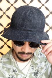 【先行予約アイテム】 TROPHY CLOTHING × AMERICAN WANNABE  「 Dirt Denim Army Hat 」  ダートデニムアーミーハット