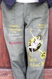 BLOWOUT!! × AMERICAN WANNABE  「HAND PAINT Baker Pants 」  ハンドペイントベイカーパンツ