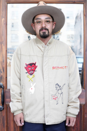 BLOWOUT!! × AMERICAN WANNABE  「HAND PAINT Derby Jacket 」  ハンドペイントダービージャケット