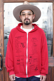 BLOWOUT!! × AMERICAN WANNABE  「HAND PAINT Zip Hoodie」  ハンドペイントジップパーカー