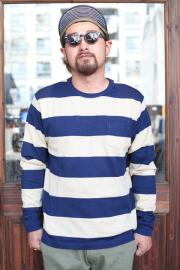 TROPHY CLOTHING/トロフィークロージング  「Wide Border L/S Tee」  ワイドボーダーティー